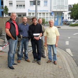 von links:Thomas Michel, Sinan Akbaba, Dipl.-Ing. Architekt Gunter Neubacher, Detlef Mucke und Michael Hilsmann Foto: privat