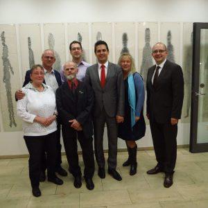 Das Foto zeigt v.l. Karin Lorenz, Martin Wenderoth,Karl-Heinz Graf, Mark Krippner, Timo Schisanowski, Ramona Timm-Bergs und Andre Stinka