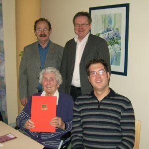 von links Horst Eschenbach,Anna Dönch, Wolfgang Jörg und Mark Krippner